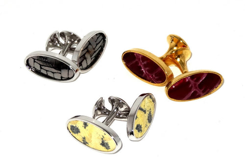 Cuff link   Leather printed costume jewellery group photo