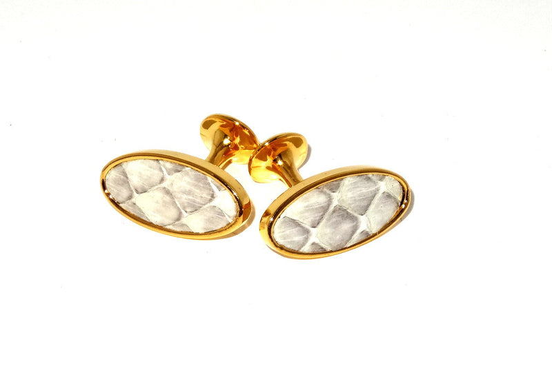 Cuff link  Snake skin costume jewellery white gold plated