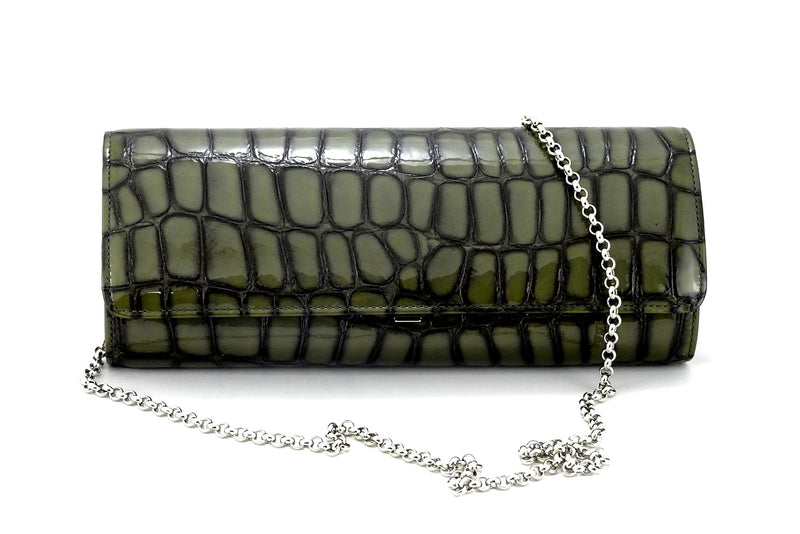 Meredith  Grey foil leather ladies clutch bag