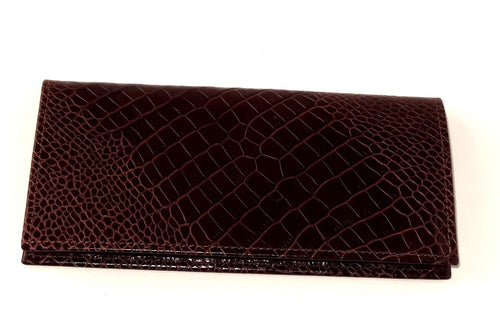 Sam  Cowboy men's wallet Burgundy printed leather front