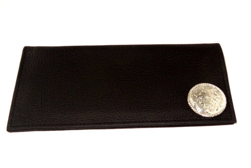 Sam  Cowboy men's wallet chocolate leather with concho front