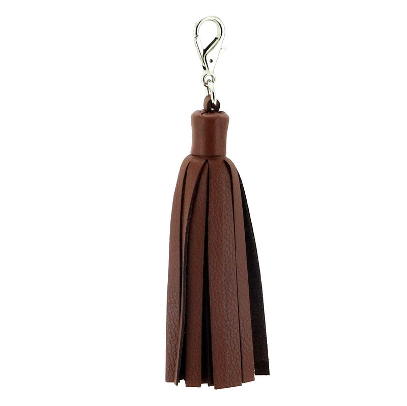 Tassels leather brown