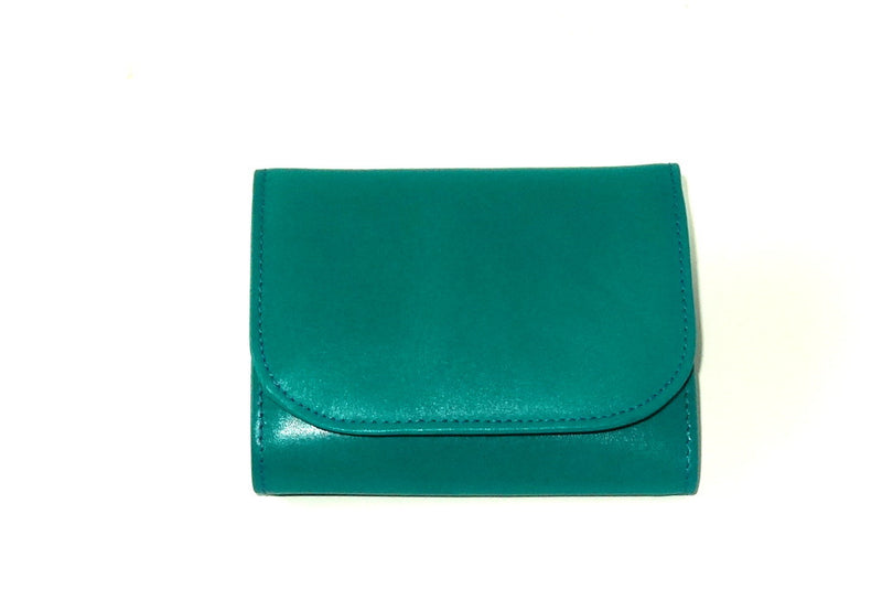 Dorothy  Trifold purse - Teal leather ladies small wallet