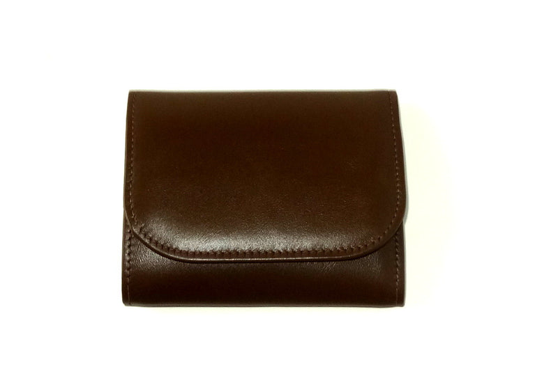 Dorothy  Trifold purse - Brown leather ladies wallet front view