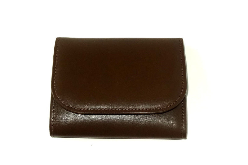 Dorothy  Trifold purse - Olive brown leather ladies wallet front view