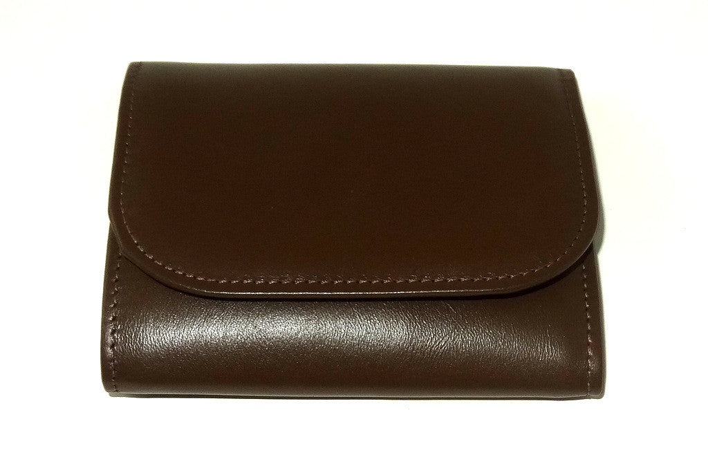 Dorothy  Trifold purse - Olive brown leather ladies wallet