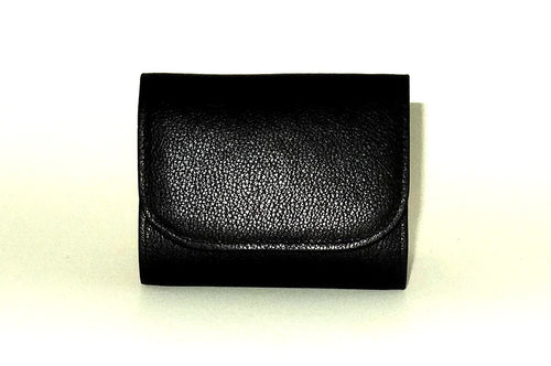 Dorothy  Trifold purse - Black leather ladies wallet front fiew