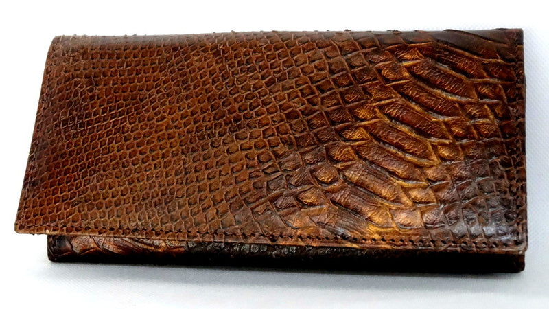 Caitlin  Copper snake print leather ladies purse