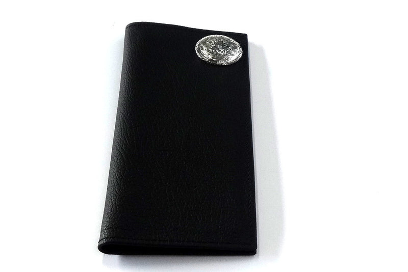 Sam  Cowboy men's wallet Black leather with large concho