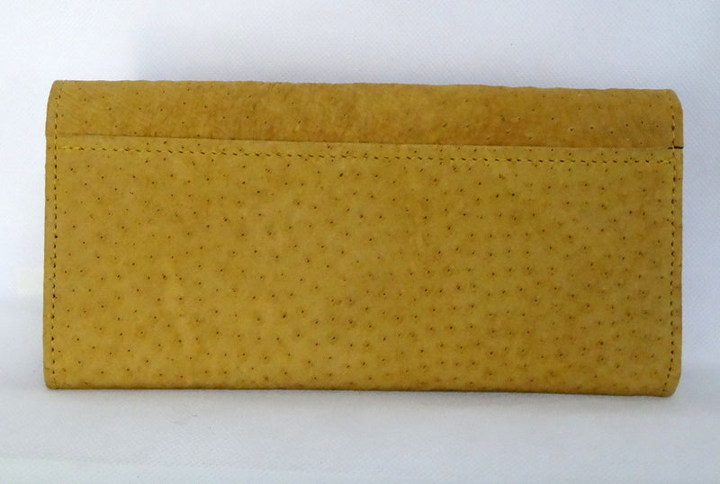 Caitlin  Emu Mustard suede finish ladies purse back pocket view