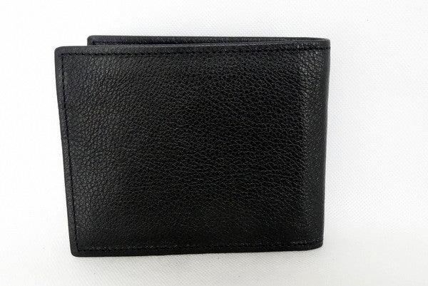 Martin  Black leather men's wallet back