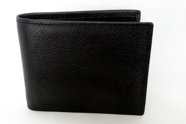 Martin  Black leather men's wallet front