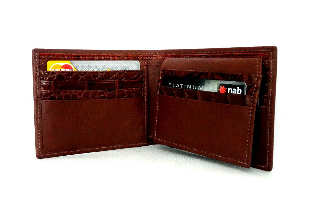 Martin  Rust brown leather men's hip wallet inside pocket layout