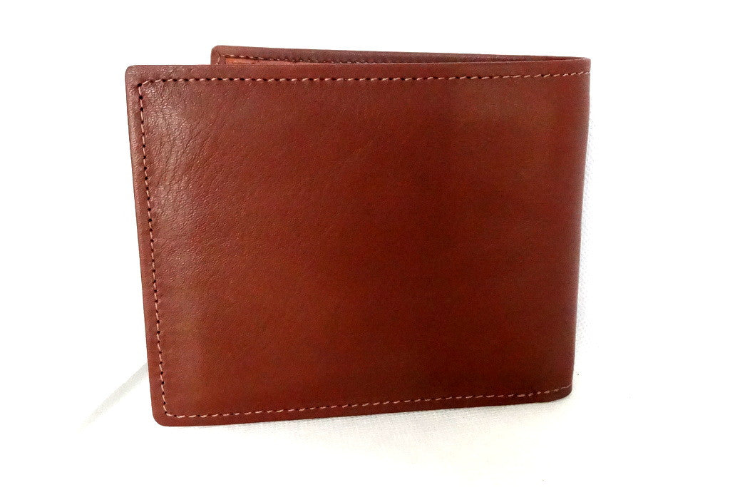 Martin  Rust brown leather men's hip wallet back