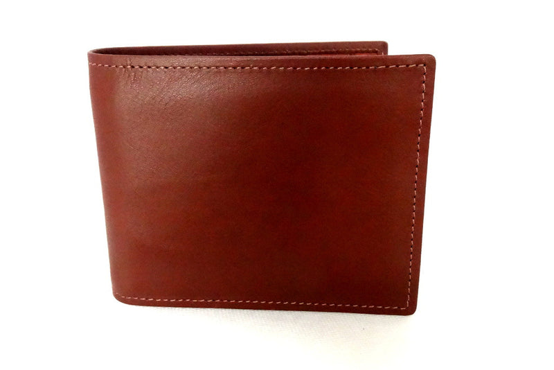 Martin  Rust brown leather men's hip wallet front