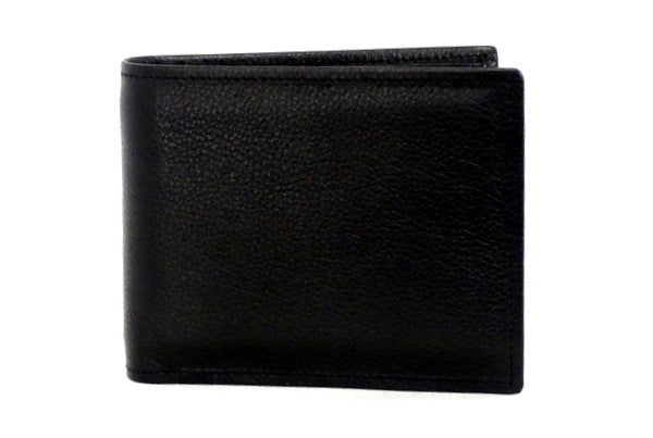 Martin  Black leather chilli lining men's wallet front