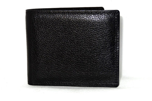 Mason  Black leather men's medium hip wallet with chilli internal front