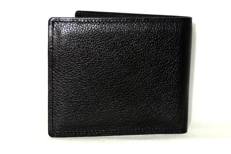 Mason  Black leather men's medium hip wallet with chilli internal back