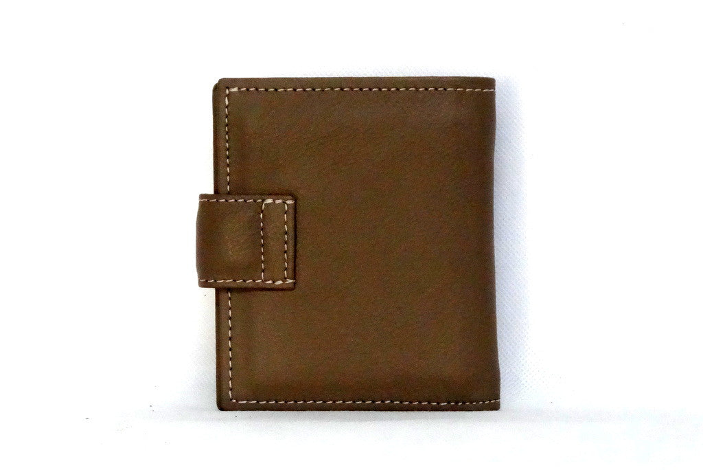 Christine  Nutmeg leather small ladies purse wallet back view
