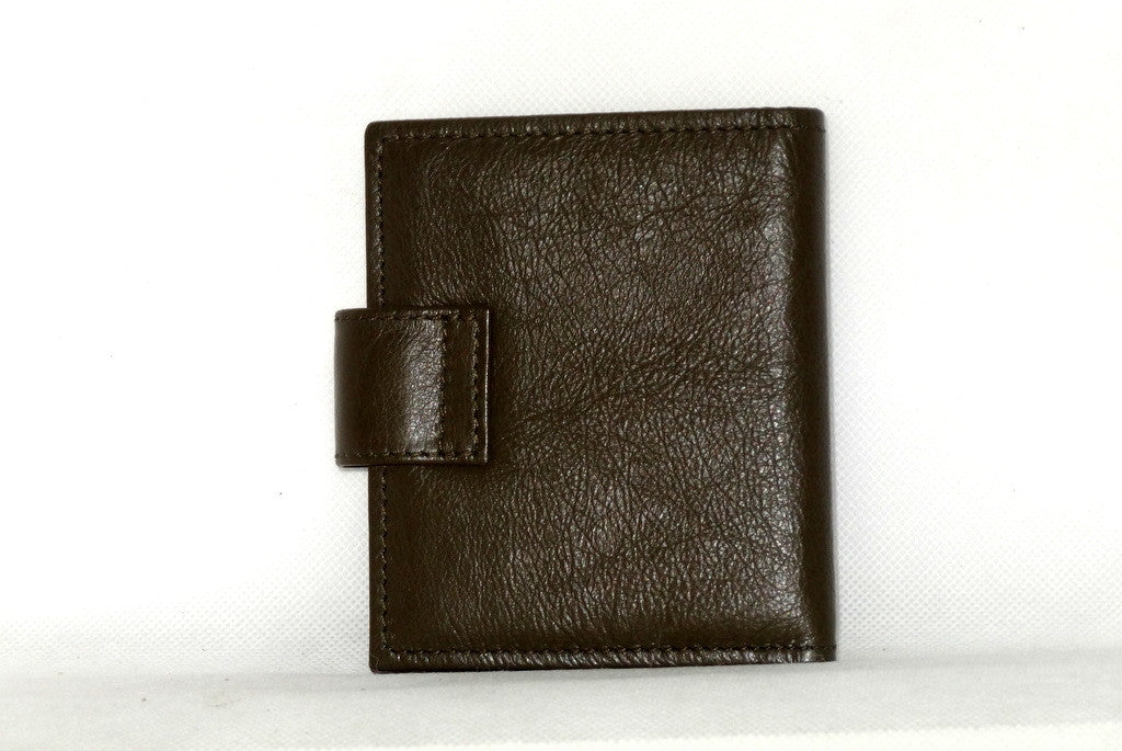 Daniel  Olive kangaroo leather small men's wallet back view