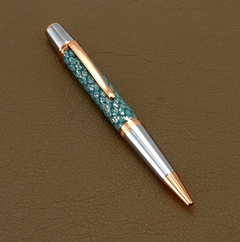 Pen Copper metallic blue single barrel