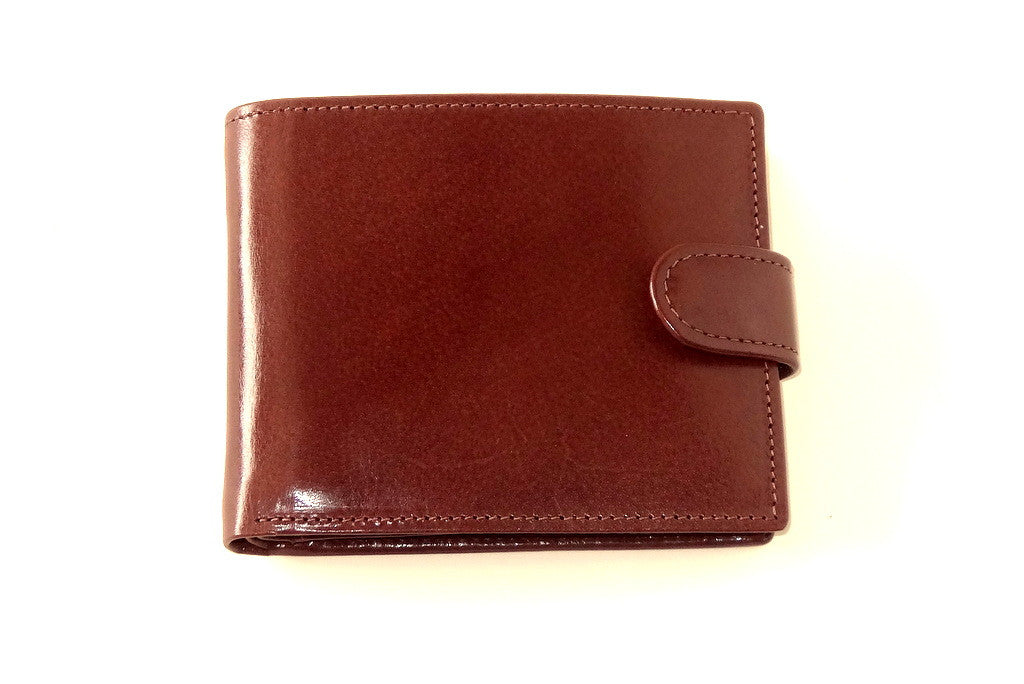 Harrison  Brown smooth finished leather men's large hip wallet front
