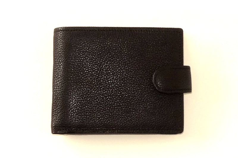 Harrison  Black leather large hip men's wallet front