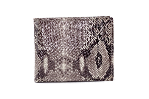 Martin  Grey snake print leather men's wallet front view