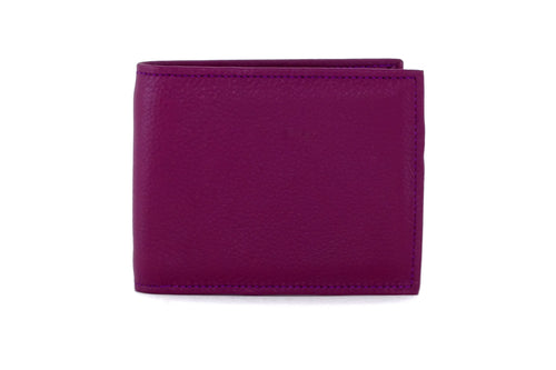 Martin  Purple leather men's hip wallet with chilli front view