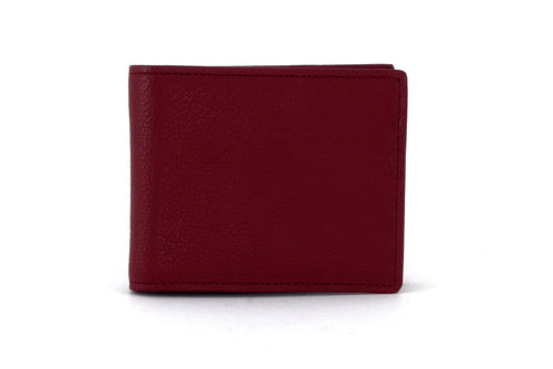 Martin  Chilli leather wallet with brown and purple front view