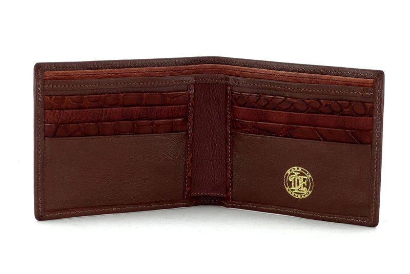 Martin  Brown leather men's wallet inside pocket layout view