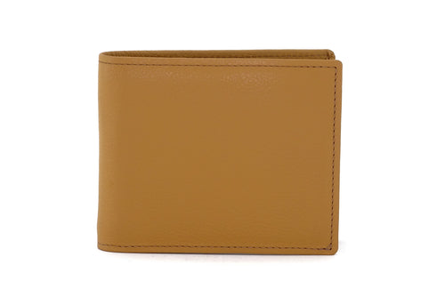 Martin  Custard leather men's wallet with brown front view