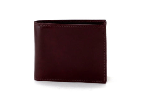 Martin  Brown smooth leather men's large hip coin wallet front view