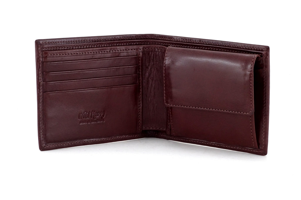 Martin  Brown smooth leather men's large hip coin wallet inside view