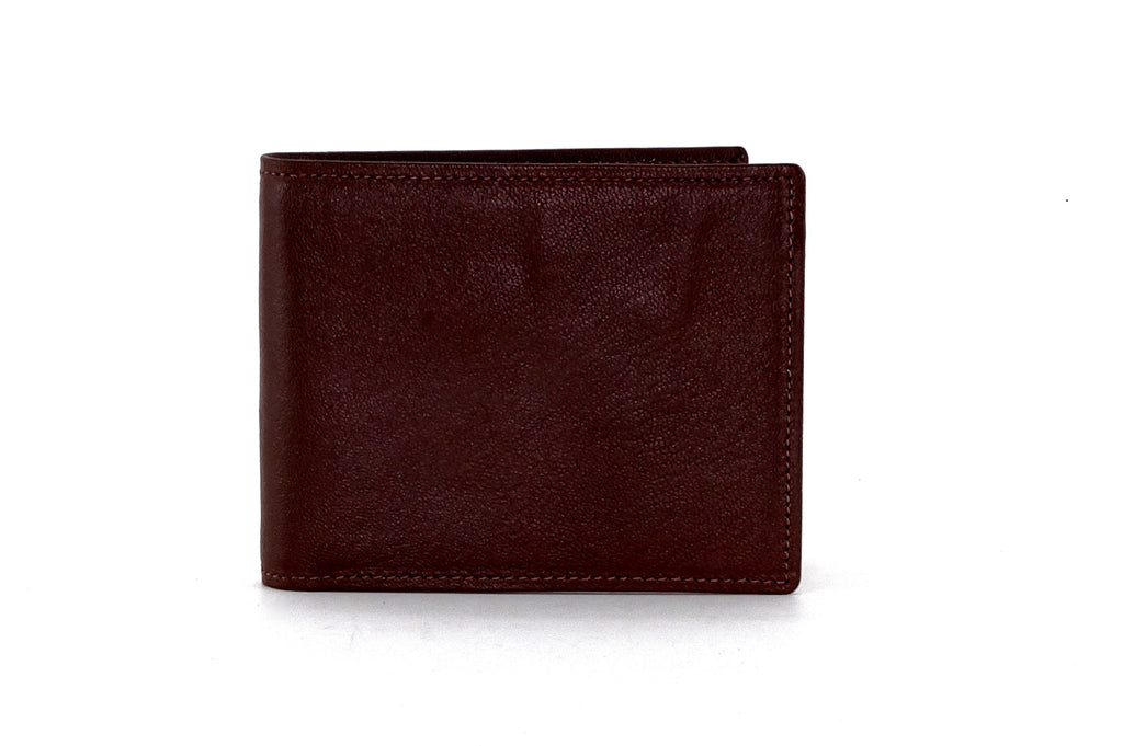 Martin  Brown leather men's wallet outside front view
