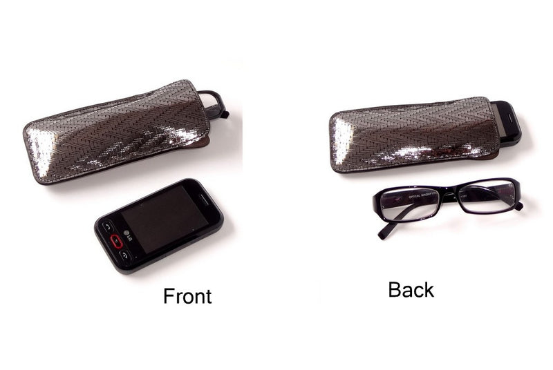 Glasses/mobile phone soft case Leather