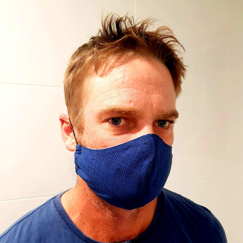 Face Mask - Washable cotton cloth basic model shown on male adult