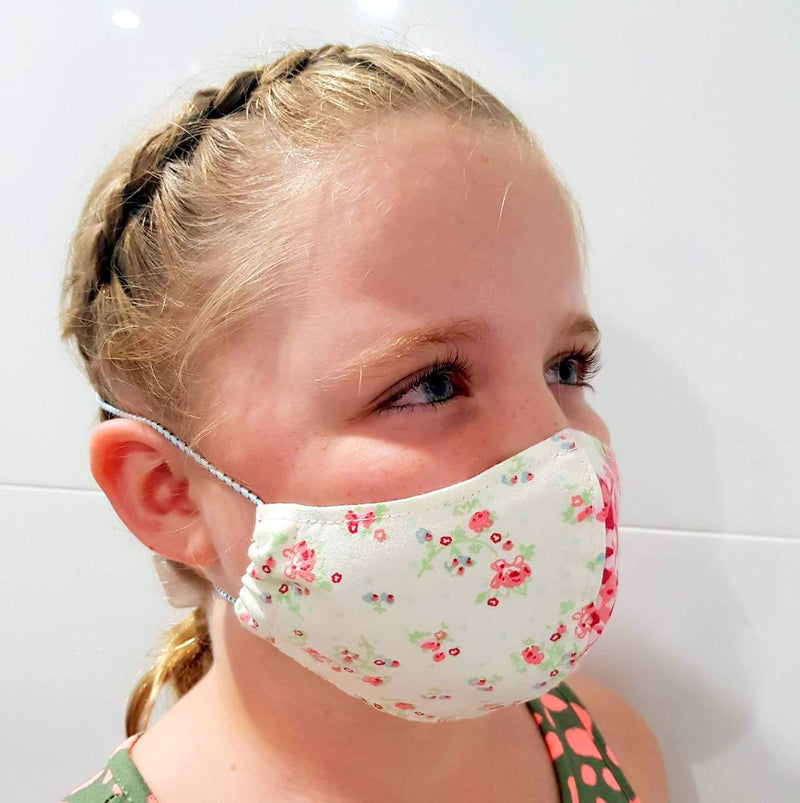 Face Mask - Washable cotton cloth with filter pocket model - with model