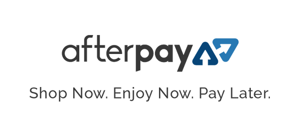 Afterpay. Shop now. Enjoy Now. Pay Later with flower in a box