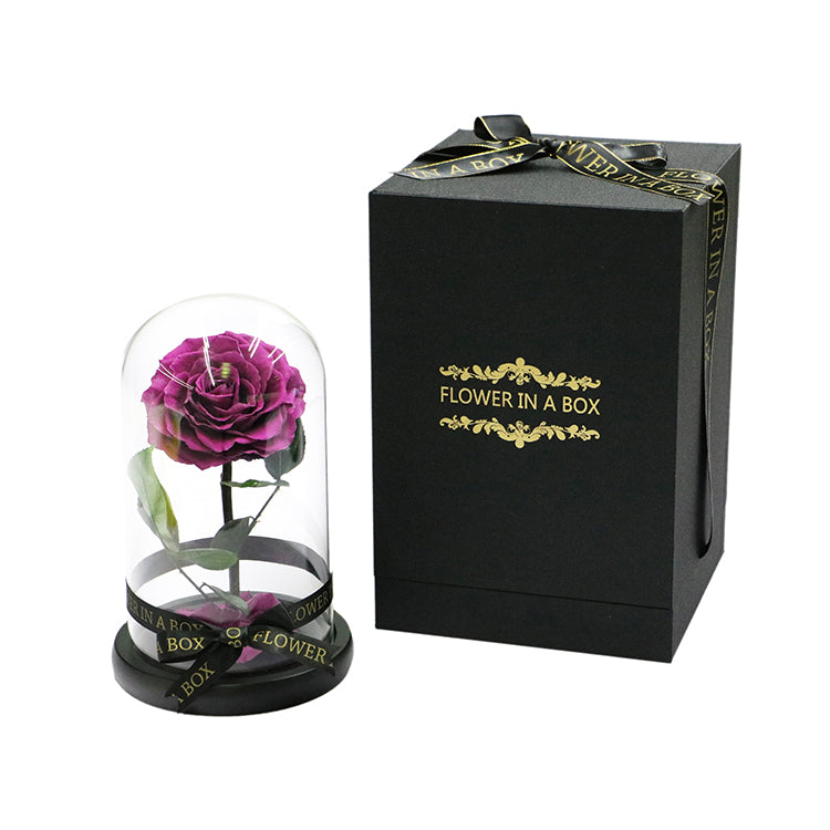 Enchanted Rose Mini - PURPLE - flower in a box