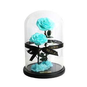 Enchanted Rose Deux- TIFFANY BLUE - flower in a box