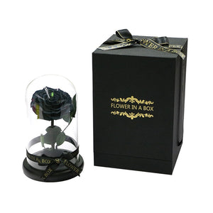 Enchanted Rose Mini - BLACK - flower in a box