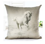 Wild Horses Cotton Linen Cushion Cover - Season Finds