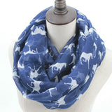 Horse Print Loop Shawl Infinity Scarf - HorsinRound - 7