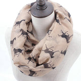 Horse Print Loop Shawl Infinity Scarf - HorsinRound - 3