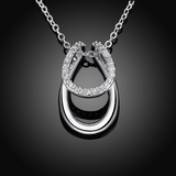 Rhinestone Horseshoe Necklace - Season Finds