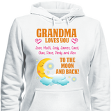 Custom Moon And Back With Grandkids Names - HorsinRound - 3