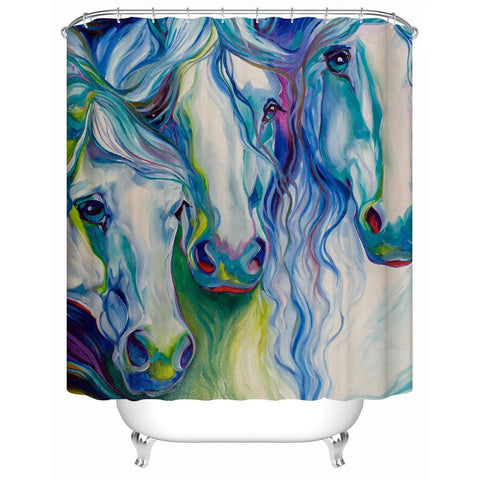 Art Shower Curtain - HorsinRound - 1