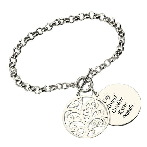 Engraved Family Tree Bracelet - HorsinRound - 1