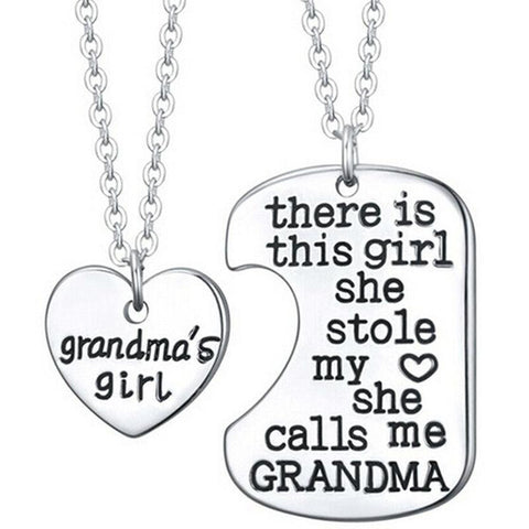2 Piece Grandma's Girl Necklace - HorsinRound